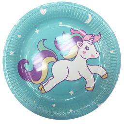 Platos descartables Unicornio