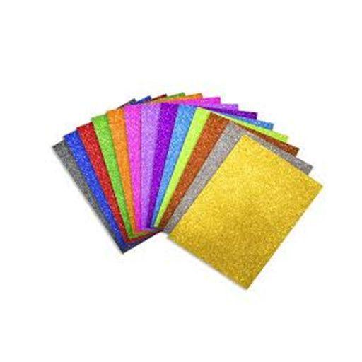 Plancha de Goma Eva con Brillantina Colores