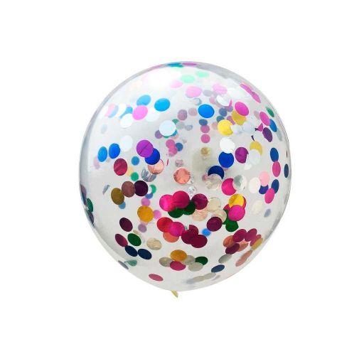 Globo Transparente con Confeti