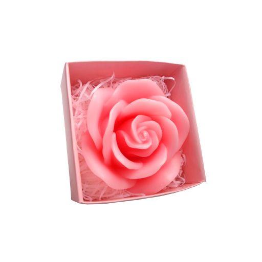 Vela con forma de rosa
