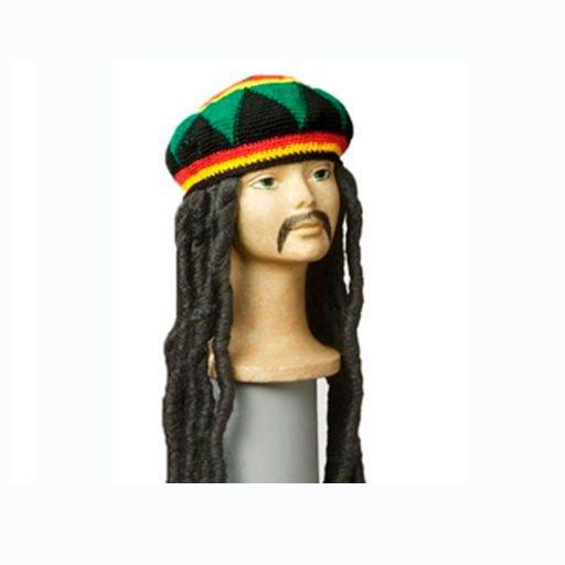 Gorro con rastas Bob Marley