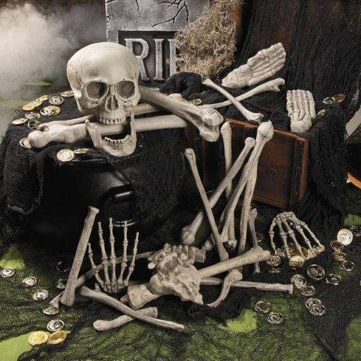 Huesos para decoración de halloween