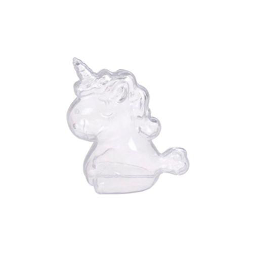Contenedor Unicornio Transparente