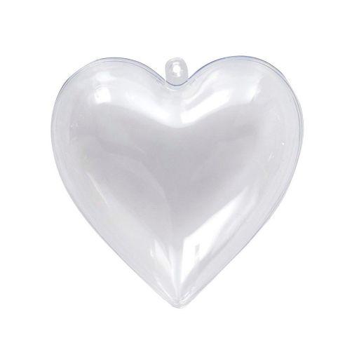 Contenedor Corazón Transparente (grande)